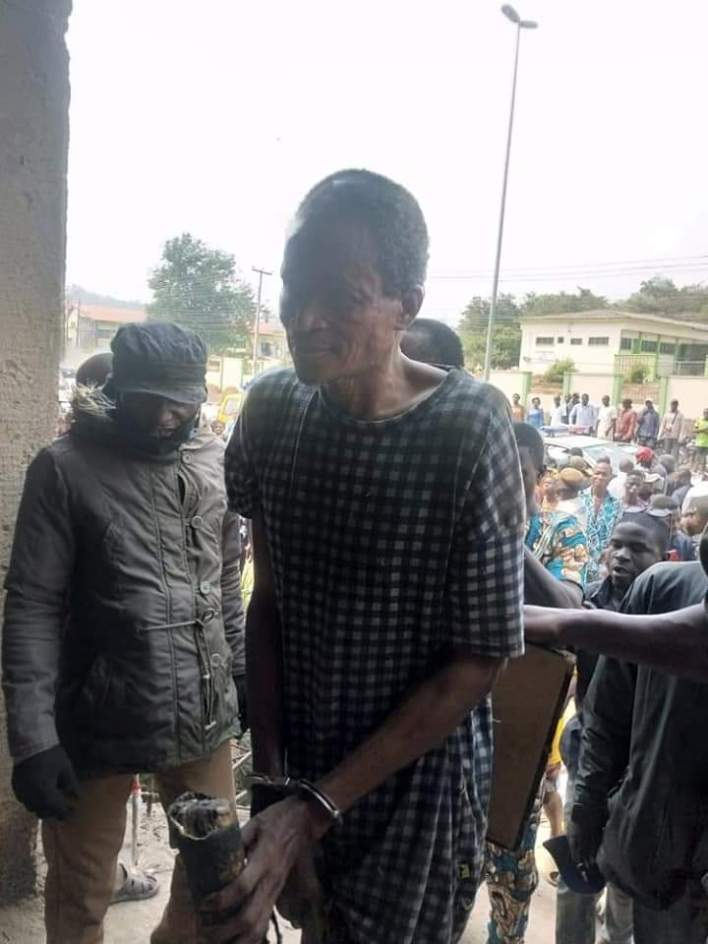 PHOTOS: Police rescue suspected kidnapper from lynching, recover ATM cards and others in Ekiti