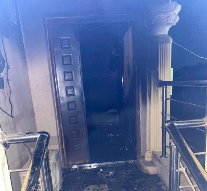 BREAKING: Sunday Igboho's house razed in Ibadan (Photos)