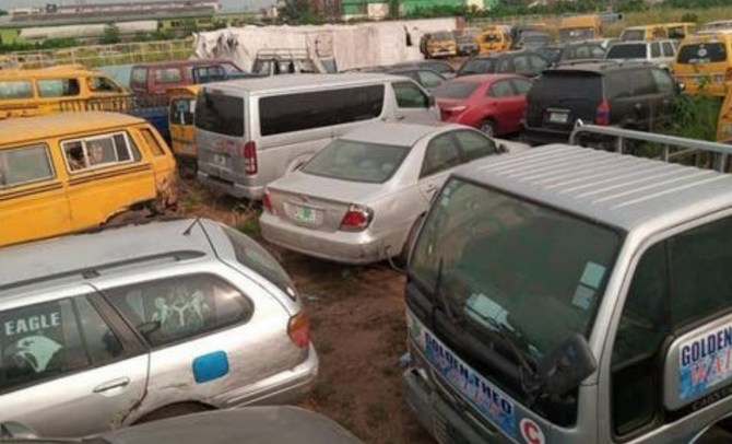 Lagos taskforce gets order to auction 88 vehicles of traffic offenders