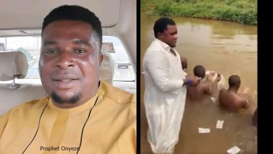 Anambra State Govt reacts to videos of Prophet Onyeze Jesus' followers bathing naked in a river