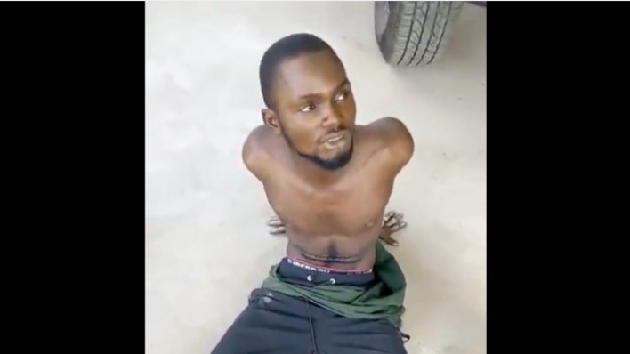 VIDEO: Men on Stop and Search nab driver, recover five pistols, charms and others in Edo