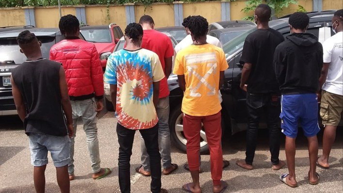 EFCC arrest nine suspected internet fraudsters in Benin City