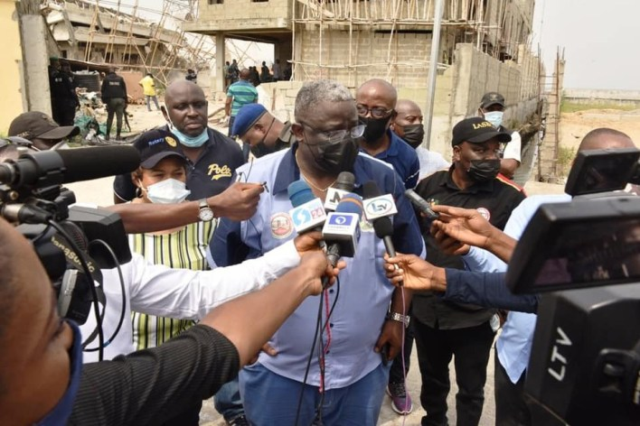 PHOTOS: Lagos Gov't demolish some properties in Banana Island for flouting building laws