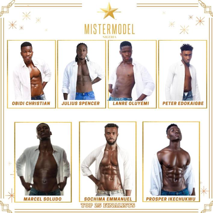 PHOTOS: 25 Finalists Of 'Mister Model Nigeria' Competition 2021
