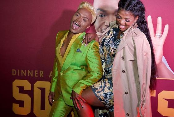 Shauwn Mkhize and Shimza show Somizi huge support at the launch of his sneakers line (Video)