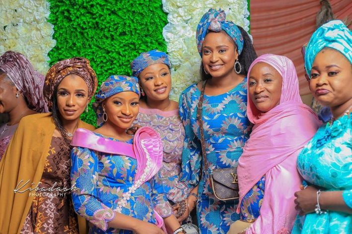 Rahama Sadau shares family pictures from brother's wedding