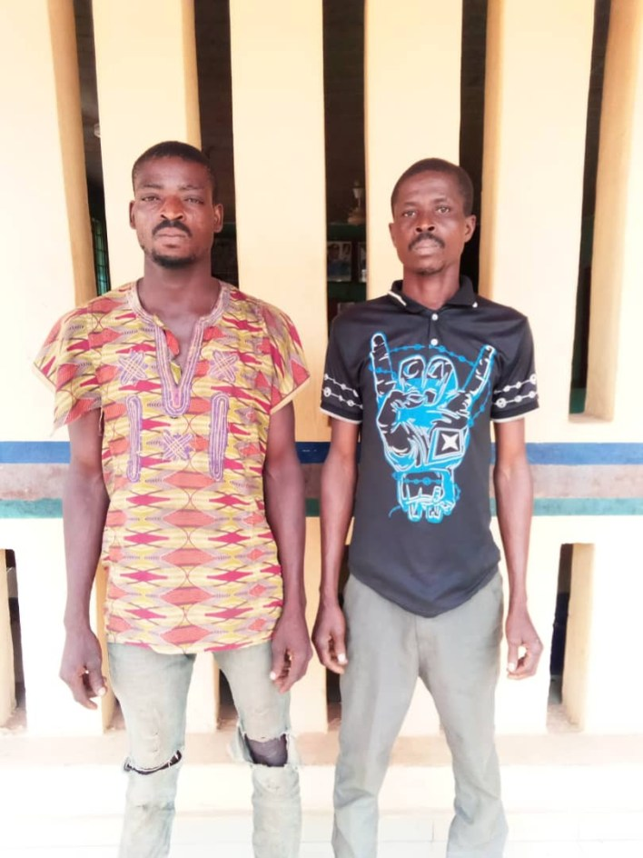 PHOTO: Police arrest two men for allegedly gang raping the 16-year-old daughter of their co-tenant in Ogun