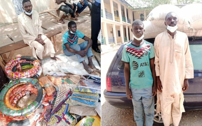 PHOTOS: Katsina Police arrest father and son who specialize in shop breaking and theft