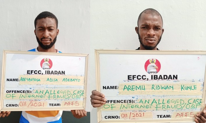 EFCC arraigns two men over alleged internet fraud in Ibadan