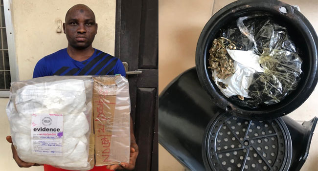 Photos: NDLEA intercepts cocaine and heroine concealed in earrings, cream containers in Lagos