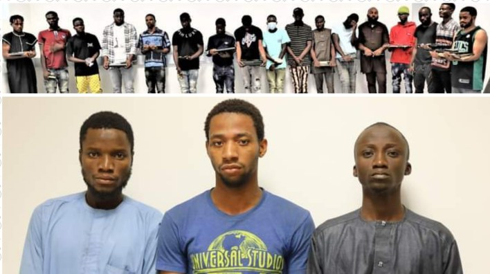 18 suspected internet fraudsters arrested in Abuja, 3 in Niger