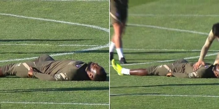 PHOTOS: Atletico Madrid Striker, Moussa Dembele Collapses In Training