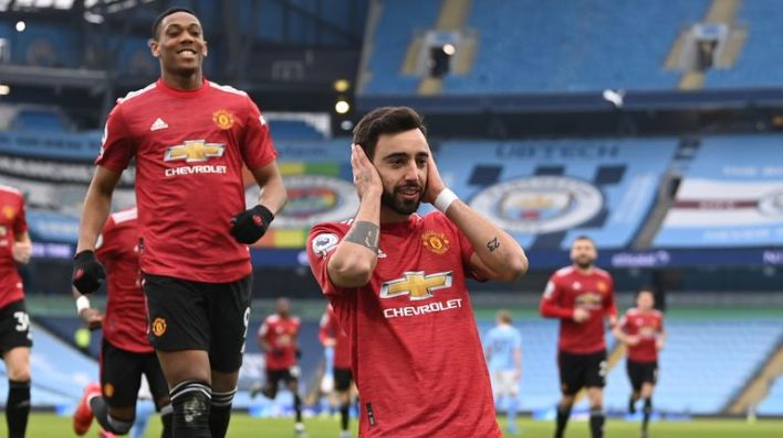 Manchester United end Man City's 21-game winning run