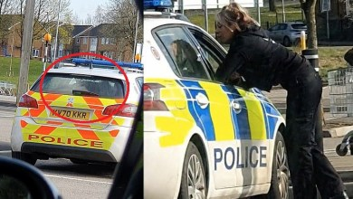 VIDEO: Two UK police officers caught on camera kissing in patrol car for '20 minutes'
