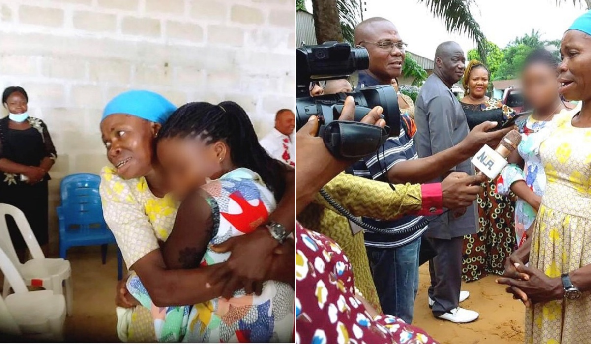 PHOTO: Human trafficking victim reunites with her mother in Akwa Ibom after 20 years
