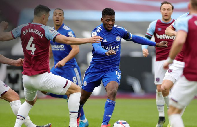 EPL: Iheanacho scores twice as West Ham hammers Leicester City in a five-goal thriller