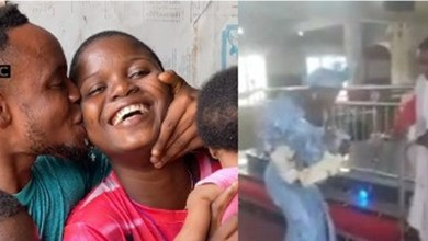 Video: Amazing love story of differently-abled man and wife, who recently dedicated their child in Delta