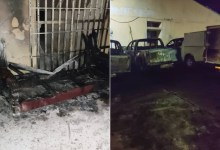 PHOTOS: Police foil attempt to set INEC office in Enugu ablaze