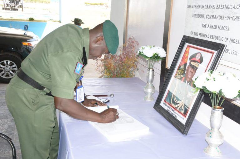 Nigerian Army opens condolence register for late COAS, others in Kaduna