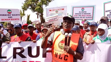 NLC President, Wabba dares El-Rufai, leads protest after being declared wanted