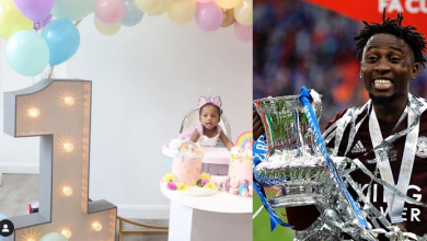 Photos: Wilfred Ndidi dedicates Leicester City's FA Cup victory to daughter, Jaina