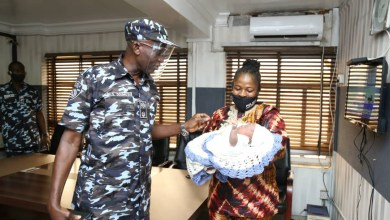 Photos: Lagos police rescue another one-month-old baby