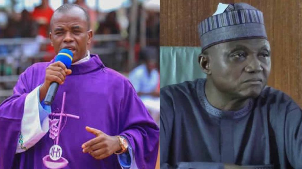 Mbaka asks Garba Shehu to apologise, says he can also be killed by bandits