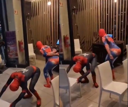 SA worried at dancing Spiderman's female partner (Videos)