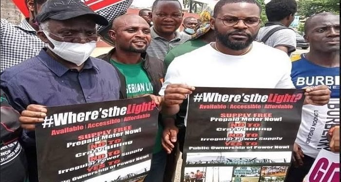 Falana, Falz, others protest in Lagos