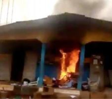 BREAKING: Gunmen raze another police station in Imo, 4th police facility razed in less than one week