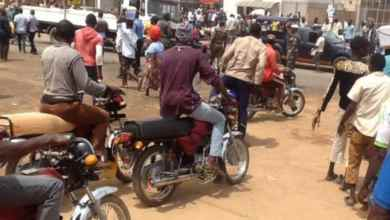 Okada riders attack motorists as vehicle crush colleague to death in Abeokuta