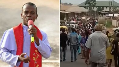 Mbaka reappears, protesting youths attack Enugu bishop's house
