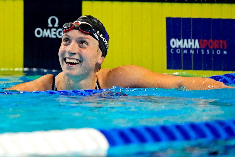 Katie Ledecky at U.S. Olympics Team Trials Swimming