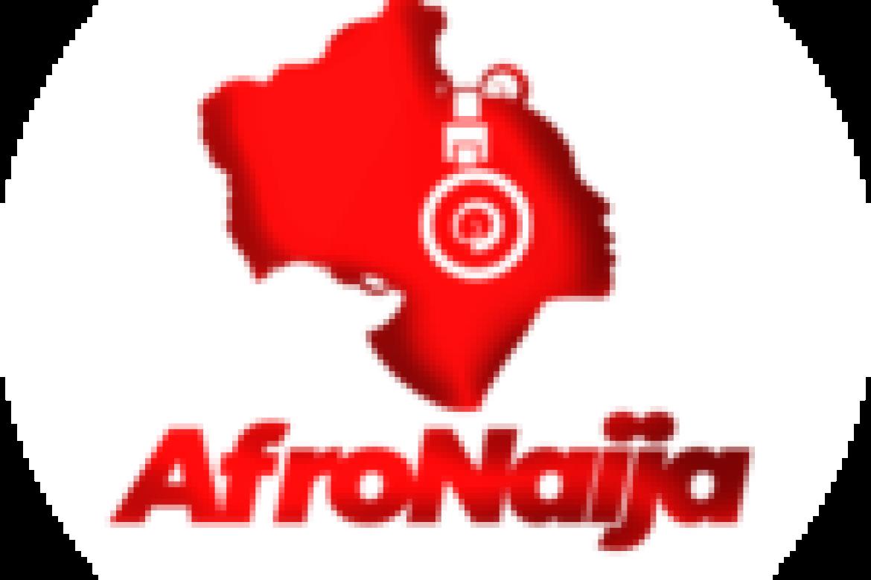 Max Verstappen, Lewis Hamilton and Sergio Perez celebrate on the podium in France