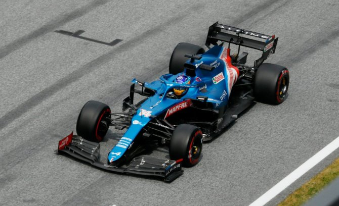 Alpine F1 during the FP2 session in Styria