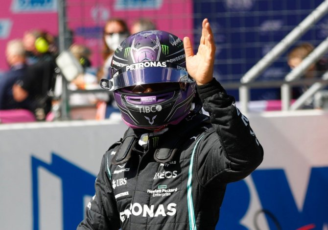 Lewis Hamilton after qualifying in the Styrian GP