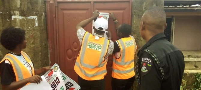 PHOTOS: Two brothels sealed off in Akwa Ibom over death of three persons