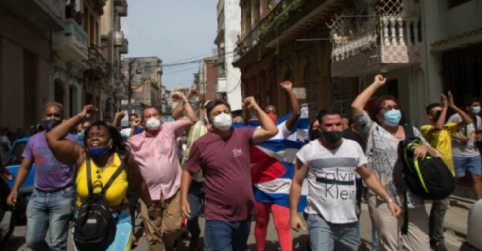 Cubans storm streets, protest food shortages and rising prices