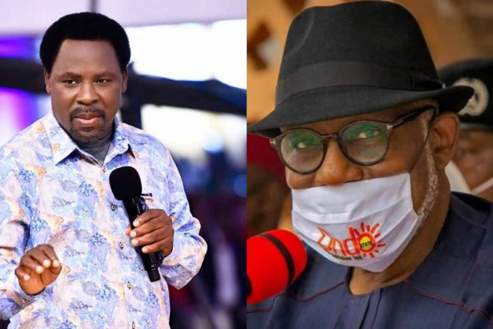 Akeredolu reveals what TB Joshua gave him after Ondo governorship election victory