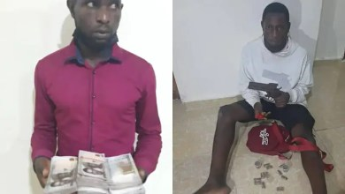 PHOTOS: Two arrested for offering Lagos police officer N500,000 bribe to release 2 suspected robber, cultist