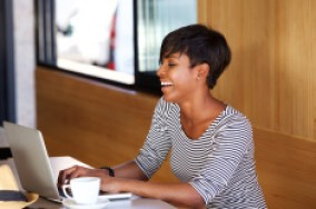stock-photo-Black Woman Laptop