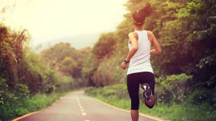 Woman running fitness