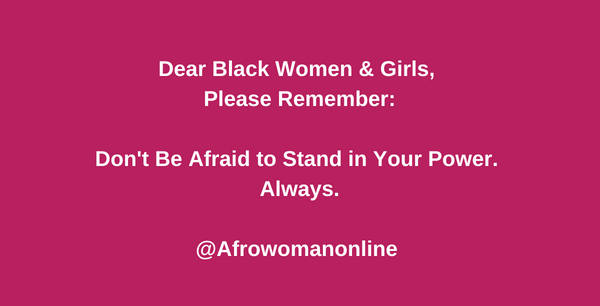 Dear Black women and girls