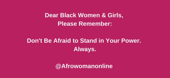 Dear Black women & girls voice meme