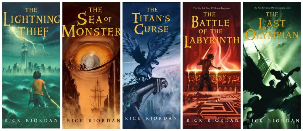 Image result for percy jackson and the olympians books
