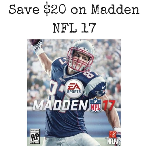 Amazon Save 20 On Madden NFL 17