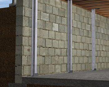 foundation wall repair I-beam system