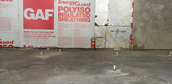 Interior slab repair after using SettleStop Concrete Lifting