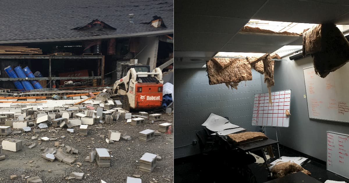Damage is the AFS Nashville buildings caused by the Nashville tornados in 2019.