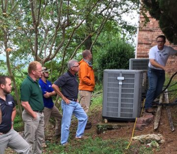 AFS Team inspecting home